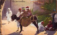 ALGERIA FRANCESE - JEUX D'ENFANTS - RARA CARTOLINA - INIZIO '900