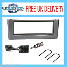 FIAT GRANDE PUNTO DARK GREY FASCIA FACIA SURROUND ADAPTOR FITTING KIT PACKAGE