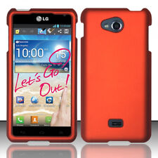 For MetroPCS LG Spirit 4G MS870 Rubberized HARD Case Phone Cover Orange