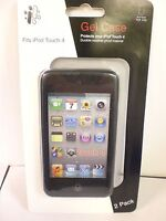 iCONCEPTS 2 PACK BLACK/CLEAR iPOD TOUCH 4 GEL CASE