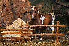 """Retired Schleich Horse Farm Diarama Nativity scence  Figurines for 3.5""""  Stallon"""
