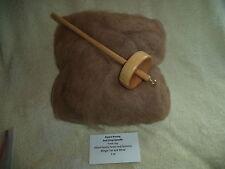 Drop spindle and Mingle Tan and White Washed Alpaca Roving 4 oz kit, Huacaya