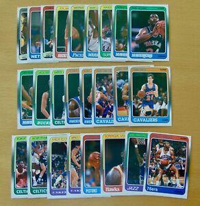 (25) 1988 FLEER BASKETBALL LOT BARKLEY, MALONE, MCHALE, WORTHY, WILKINS - NM/MT