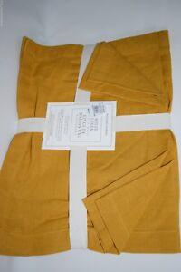 NEW WILLIAMS SONOMA Linen Place Mats SET of 4 Pumpkin Gold Orange 14 x 20 $49