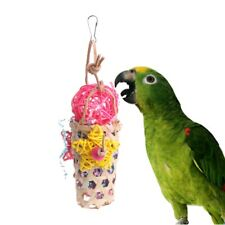 Birds Parrots Toys Wood Knitted Rattan Ball Swing Chewing Bite Hanging Rope Cage