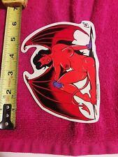 """4""""×5"""" Devil Girl Wings STICKER Decal Horn Posterpop 1998 COOP Vinyl Bat Vampire"""