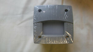 Fumagalli 3C3 Italian Square Brick / wall Lights 230v, Grey & GX53 Bulb