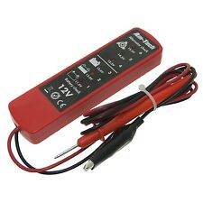 12 voltios DC batería y alternador probador 6 LED herramienta de diagnóstico coche moto