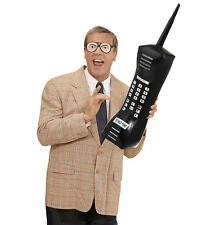 80s 1980s Black Inflatable Retro Mobile Phone Cell Telephone Dom Jolly Toy Prop