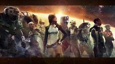 "Mass effect 2 3 4 Game Fabric poster 43"" x 24"" Decor 99"