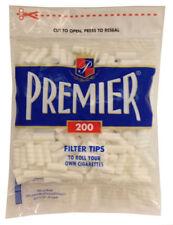 Premier Regular Hand Rolled Cigarette Filter Plug Tips 8mm - Bag of 200 - 3102