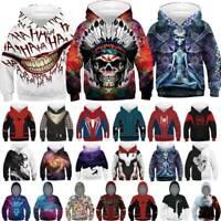 Hallowen Boy Cosplay Hoodie Hooded Marvel Avengers 3D Print Superhero Sweatshirt