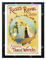 Historic Ross's Royal Belfast Aerated Table Waters, c.1890 Advertising Postcard