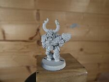 CLASSIC METAL CHAOS SPACE MARINE WITH PLASMA GUN BASE PAINTED (2186)