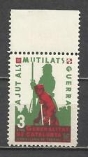 5166-SPAIN CIVIL WAR ESPAÑA GUERRA CIVIL AJUTS MUTILATS** LUXE.CATALUNYA.3 PESET