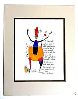 """Story People Hope Art Print Brian Andreas 1993 Matted New 11"""" x14"""""""