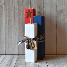 Handmade Wooden Firecrackers - 4th of July Decor - Americana