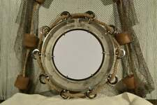 "23"" Porthole Mirror ~ Chrome ~ Nautical Maritime Decor ~ Large Ship Cabin Window"