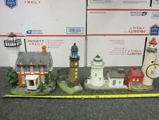 """New ListingLot of 4 Lighthouses: Cleveland Harbor Breakwall, Tawas, 8"""" Poly Lighthouse"""