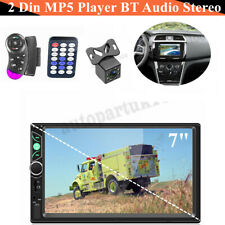 "7"" 2Din Car MP5 Player Bluetooth Stereo FM Radio USB AUX In with Rear Camera"