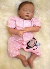 "20"" Vinile Doll Lifelike Reborn Baby Doll Vinyl Kid playmate Bambole rinascere 9"