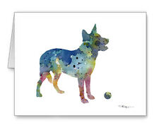 BLUE AUSTRALIAN CATTLE DOG Note Cards With Envelopes