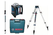 Bosch Rotationsläser GRL500H + LR50 Empfänger + Stativ BT170HD & Messlatte GR240