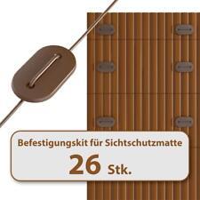 HOMELUX Befestigungskit für Sichtschutzmatte Windschutz Balkonverkleidung BRAUN