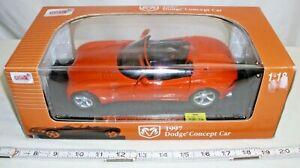 ANSON 1997 DODGE CONCEPT CAR DIE CAST MODEL 1/18 BOXED