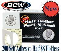 1.5x1.5 Half Dollar Coin Cardboard Flips Bundle Of 100 Holders High Quality Deal