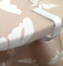 8 Tablecloth/cover Clips White Quality Tough Plastic Free Fast Royal Mail Post
