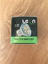 MR11 GU4 12v LED Lamp 11v-18v Range AC DC 1.3w 200 Lumens Cool White Light Small