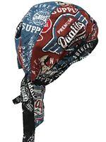 Sugar Skull Black Paisley Head Wrap Durag Bandanna Cap Sweatband Capsmith Biker