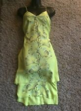(#2644) WHISTLES Lovely Tiered Yellow Shift Dress Attractive Print Size 8 UK