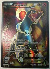 Full Art Houndoom Ex Ultra Rare 153/162 Breakthrough Pokemon Tcg Holo Foil - Lp