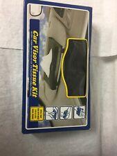 Car Visor Tissue Kit 1X 24 Black Includes 2 Ply Sheet Pack (20.8 X 20.8 cm each)