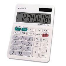 Sharp EL-310WB Mini Desktop Calculator, 8 Digit Angled Display, White (el310wb)