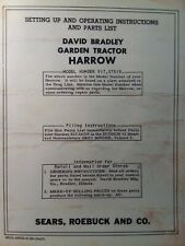 David Bradley Sears Tractor Spike Harrow Implement Owner Ampparts Manual 91757519