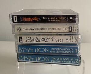 Marillion And Fish Cassette Tapes X 5 Fugazi Thieving Magpie ,Double Live Rare