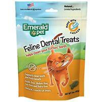Emerald Pet Feline Dental Crunchy Natural Grain Free Cat Treats, Made in USA