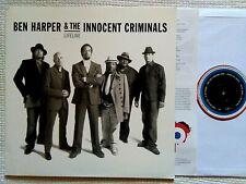 """BEN HARPER & THE INNOCENT CRIMINALS """" LIFELINE """" VINYL LP + INNER EU 2009 NM"""