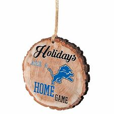 Detroit Lions Christmas Tree Ornament Stump New - Holidays are a Home Game