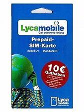 Lycamobile inkl. 10 € Prepaid SIM Karte ✔ Vodafone ✔ Triple Sim ✔ Ausland ✔ FLAT