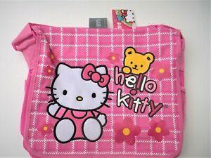 Sanrio Hello Kitty Oversize Teddy Messenger Bag School Shoulder/Diaper Bag
