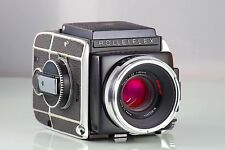 BEAUTIFUL CLASSIC SLR 6X6 120-220 ROLLEIFLEX SL66 SL-66 PLANAR HFT 80mm NEAR