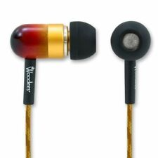 Woodees Natural Wood Housing Earphones 24k Gold Connector WOO-IESW101V
