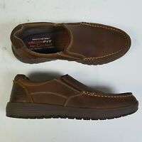 Skechers Venick Perlo 65192 Brown Casual Shoe Slip on Loafer Mens Size 9