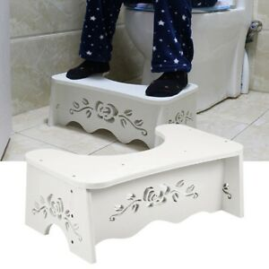 MDF Toilet Squatty Step Stool Bathroom Potty Squat Aid For Constipation Relief