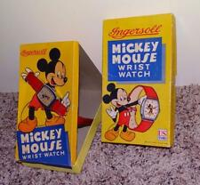 """BOXED SET: DISNEY 1947 """"MICKEY MOUSE WRISTWATCH""""INGERSOLL/U.S. TIME-ALL ORIGINAL"""