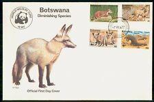 BOTSWANA WILDLIFE ANIMALS COMBO 1977 FDC CACHET UNSEALED